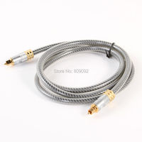 High Quality Premium Square Toslink Optical Audio Cable EM A8 0 Silver Cable For DV PC