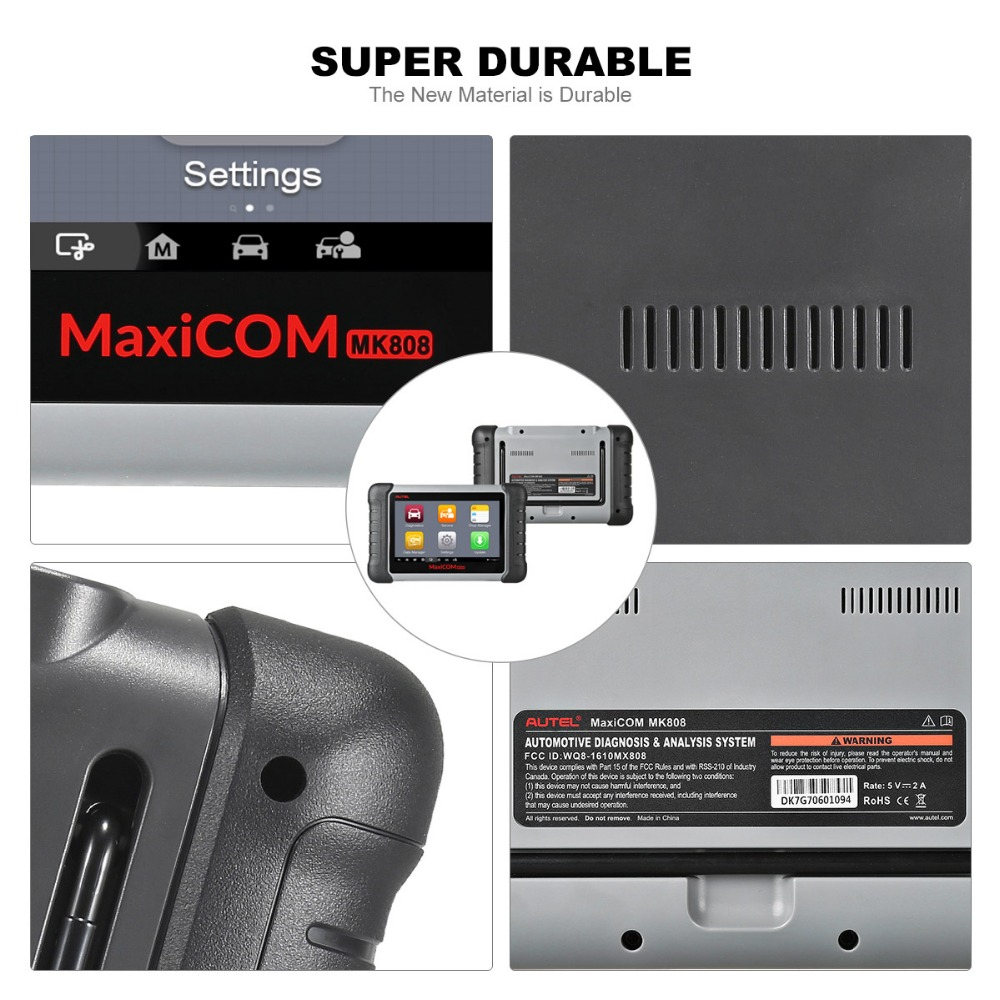 Image 4 - Autel MaxiCOM MK808 OBDII Automotive Scanner IMMO EPB SAS BMS TPMS DPF Service diagnostic tool MD802 All System + MaxiCheck Pro