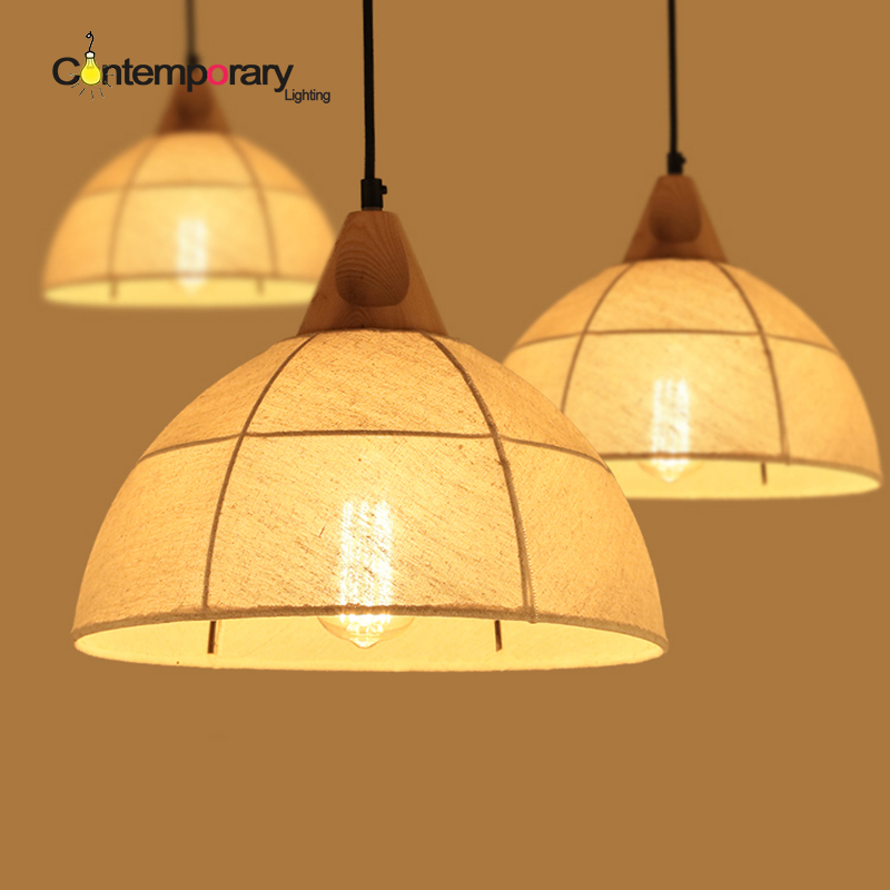 White Loft hemp Decor Fixture Lighting Vintage Cloth Industrial Pendant Drum Shaped Fabric Shade lamp kitchen light dinning room brass cone shade pendant light edison bulb led vintage copper shade lighting fixture brass pendant lamp d240mm diameter ceiling