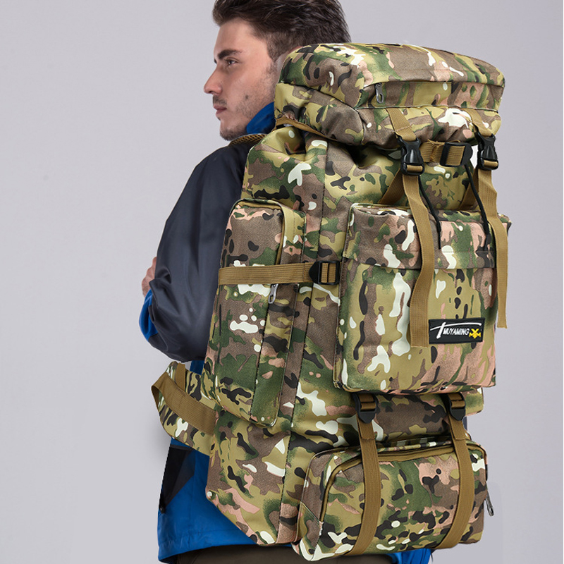 70L Tactical Backpack Waterproof Outdoor Sports Bag Military Climbing Bags Hiking Large Camping Backpack Travel Bag Large WX115 цена