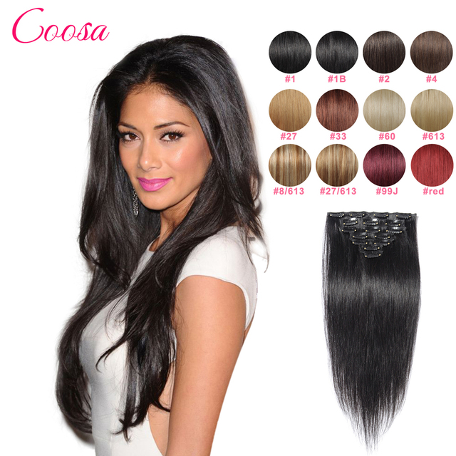 Best Quality Brazilian Hair Clip In Extensions 120 Gram Tic Tac Cabelo Humano Full Head Human