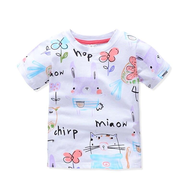 VIDMID Girl t-shirt big Girls tees shirts children blouse t-shirts big sale super quality kids summer clothes jacket rabbit W01 2
