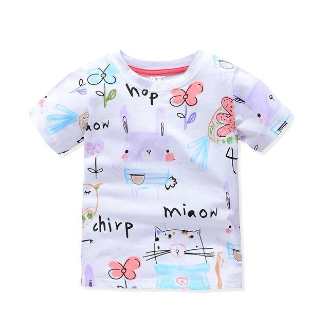 VIDMID Girl t-shirt big Girls tees shirts children blouse t-shirts big sale super quality kids summer clothes jacket rabbit pink 2