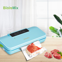 Vacuum Sealer Upgraded Automatic Food Packing Machine with 10pcs bags Best for Household Fresh Dry Moist Food Mode Blue Color