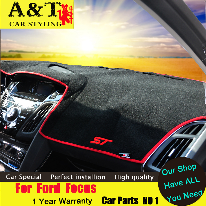 car styling For Ford Focus Protection pad dashboard 2012-2015 For Ford Focus ST sunscreen protection panel A&T car styling Car A free shipping 2012 2014 skoda fabia high quality console avoid light pad dashboard protection pad car styling