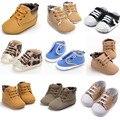 ROMIRUS Muti Estilo Zapatillas Botas Zapatos Infantiles Del Niño de Los Bebés Varones Guapos Sólidos Casual Primavera Otoño de Suela Blanda Primeros Caminante