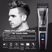 RIWA Rechargeable Electric IPX5 Waterproof LCD Display Hair Trimmer Clipper Cutter Haircut Kit With High Definition