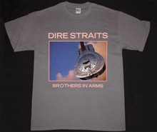 лучшая цена Personalized T Shirts Men'S O-Neck 100% Cotton Short Sleeve    Dire Straits Brothers In Arms   Tee