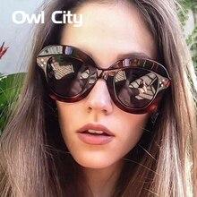 Owl City gato ojo gafas de sol mujer marca diseñador Vintage mujeres gafas  de sol femenino Eyewear UV400 883f442e33fb