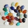 Comercio al por mayor 13x18 MM Piedra Natural forma Oval cab cabochon encantos granos de piedra para la joyería que hace DIY 50 Unids/lote Envío gratis