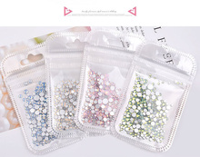 1 Bag  Nail Flat Bottom Drill A Diamond Snow Protein Glass Crystal Color Small Zircon Stickers