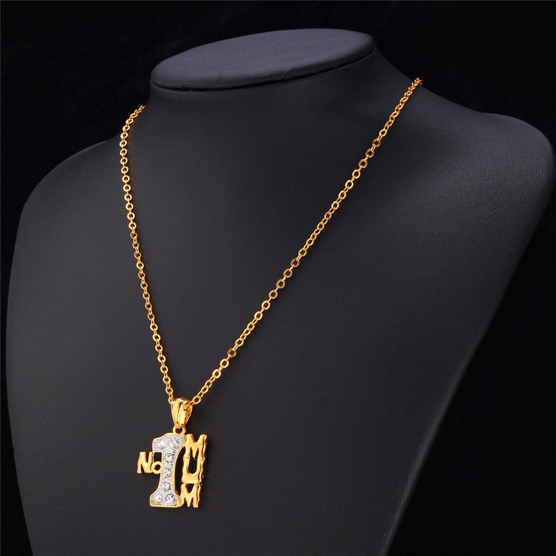 U7 mothers gift for mum gold color rhinestone mum no1 necklaces u7 mothers gift for mum gold color rhinestone mum no1 necklaces pendants women jewelry love p540 in pendant necklaces from jewelry accessories on aloadofball Image collections