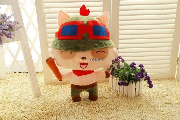 Fancytrader 33\'\' 85cm Super Cute Soft Plush Biggest LOL Teemo Toy, Free Shipping FT50149 (4)