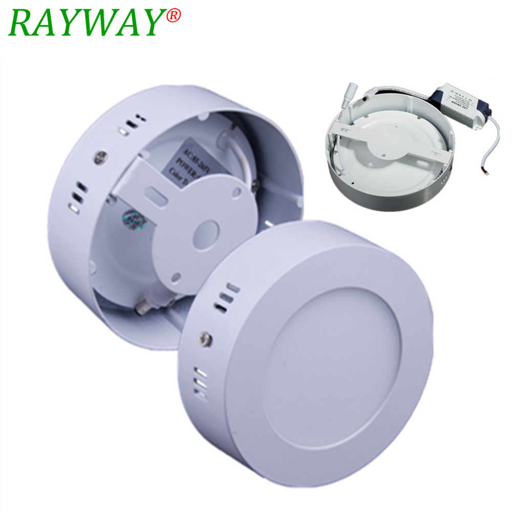 No Cut down light 6W 12W 18w 24W Surface mounted led ceiling Square panel light SMD Ultra thin circle ceiling Down lamp kitchen