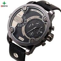 NORTH Male Sport Wristwatch Luxury Brand Fashion Men Clock 30M Water Resistant Stainless Steel 2017 Men