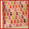 Top Fasion 1 Pieces Lot 144x50cm Mixed Cute Cat Series Cute Cartoon Cotton Fabric Bedding Sewing