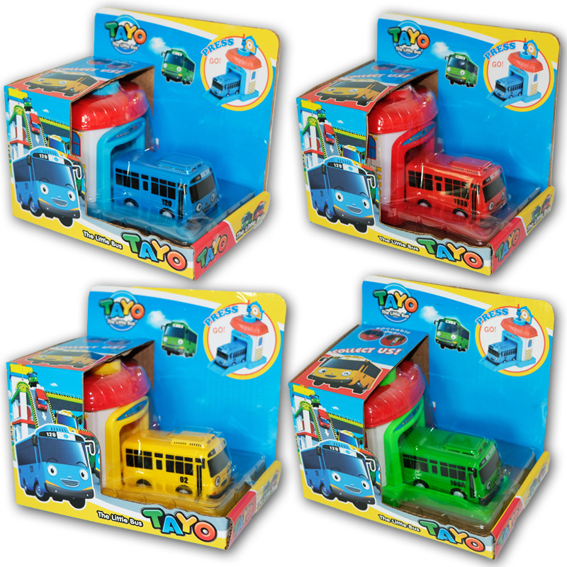 1pc Baby Toy Cars Korean Cartoon Tayo The Little Bus Model Mini Plastic Tayo Bus Baby For Kids