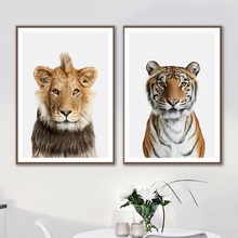Wild Animals Tiger Lion Wall Art Canvas Painting Posters And Prints Nordic Minimalism Pictures For Living Room Home Decor