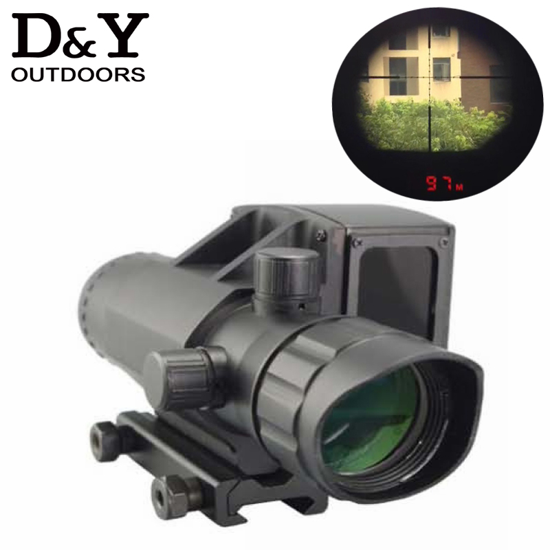 4X32 waterproof shockproof riflescope with laser font b rangefinder b font high speed measurement laser range