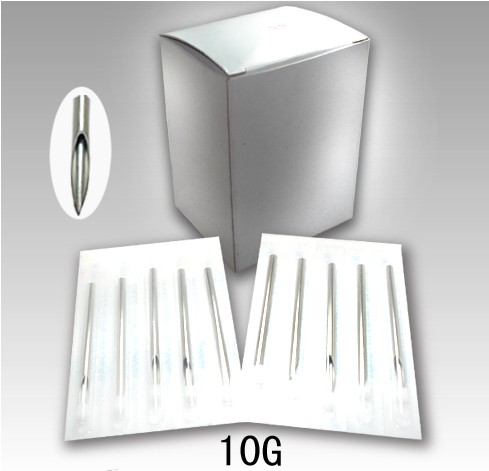100PCS Disposable Stainless Steel Sterile Body Piercing Needles Medical Grade Tattoo Accessories Supplies 10G 1