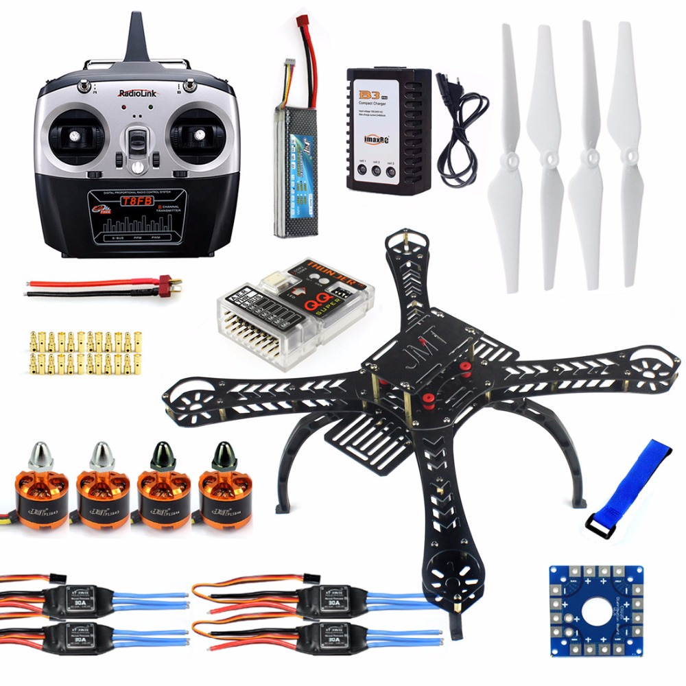 DIY  4-Axis RC Helicopter with QQ Super Flight Control+Radiolink T8FB 8Ch Transmitter ReceiverDIY  4-Axis RC Helicopter with QQ Super Flight Control+Radiolink T8FB 8Ch Transmitter Receiver