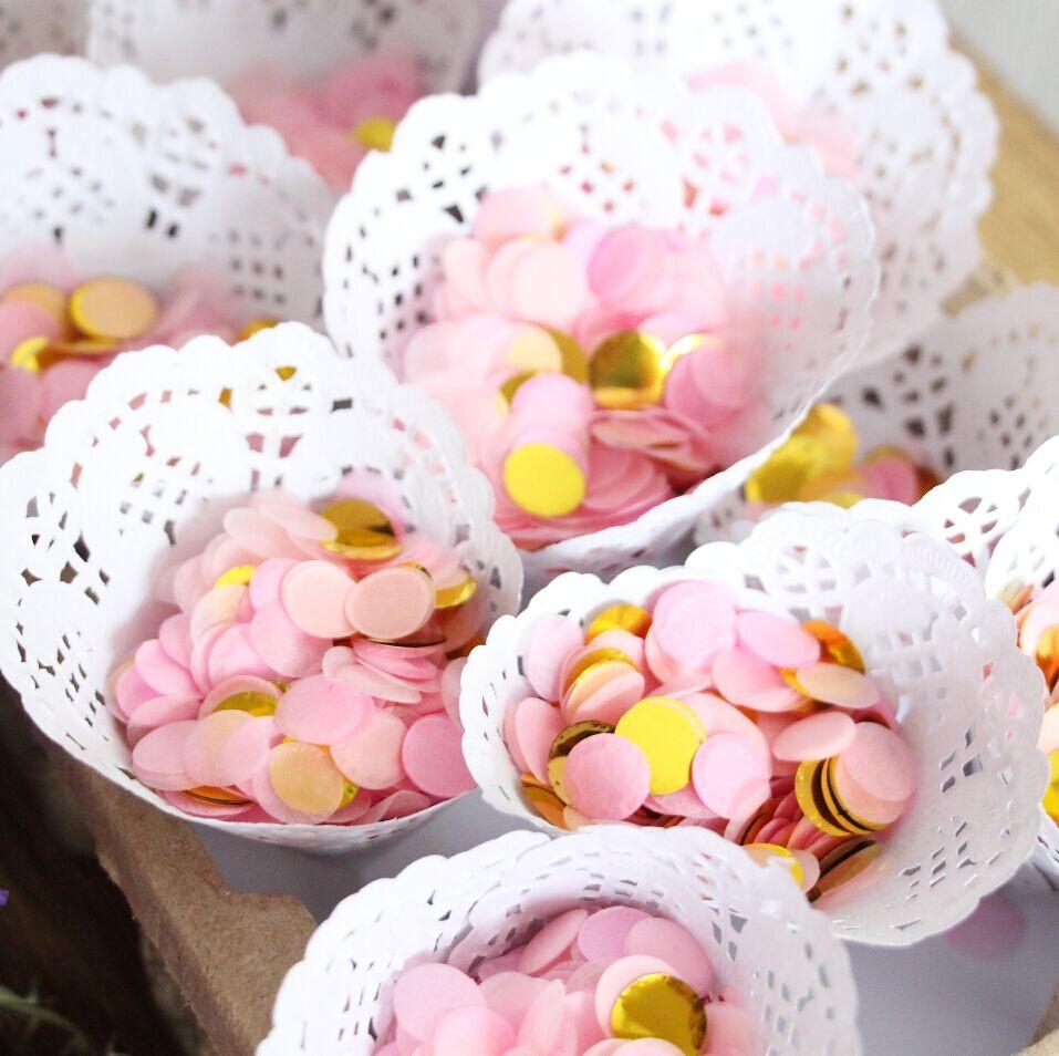 2*10g/bag Pink & Gold Circle Confetti | Bridal Shower | Table Decor ...