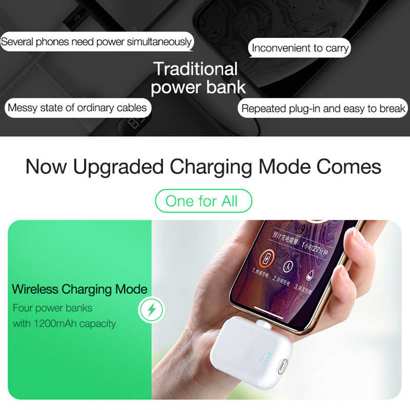 Banco de energía inalámbrico magnético CAFELE para iPhone Samsung Xiaomi Huawei Micro USB tipo C Mini imán cargador portátil