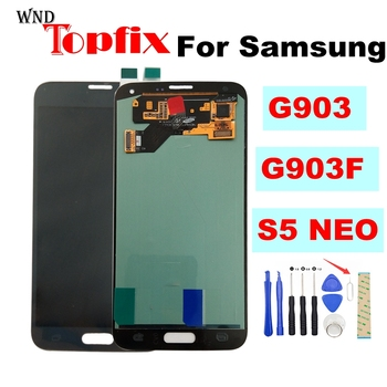 100% Tested Super AMOLED LCD For Samsung S5 NEO LCD S5NEO G903 G903F LCD Display Touch Screen Digitizer Assembly Replacement image