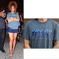 Marca Nueva Llama Thrasher camiseta Hombres Mujeres Patinetas O cuello de Algodón T-shirt Homme Camisetas de Manga Corta Pullover Palacio Gris XL