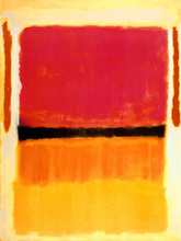 color blocks patterns contemporary abstract painting masterpiece Untitled Violet, Black, Orange, Yellow on White and Red 1949