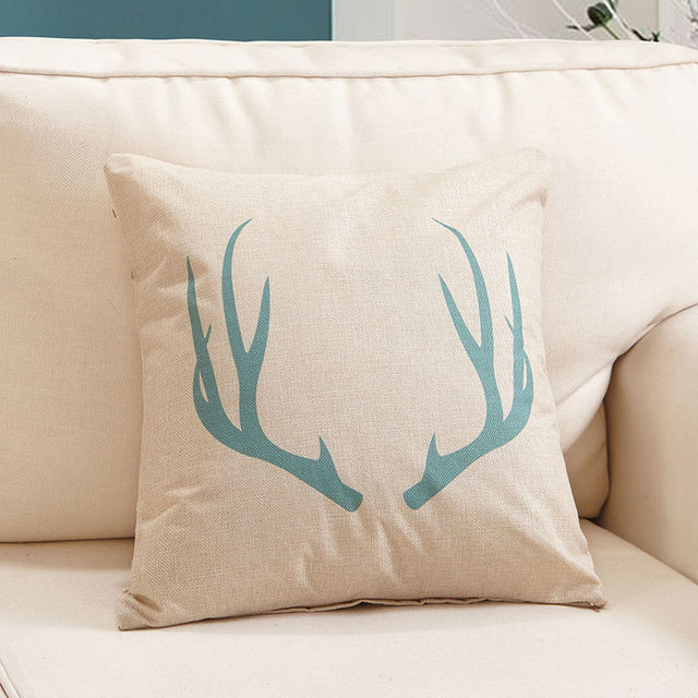 abstract Elk Head series Square Cushion Cover Linen & Cotton Material 45*45cm Decorative pillowcases