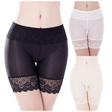 Women Body Sexy Lace Pant Lace-up Hip Underwear Comfy Cotton Fabric Mid-Waist Breathable Ladies safety pants lace panties(China)