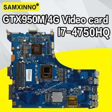 ROG GL552JX материнская плата для ноутбука ASUS GL552JX ZX50J GL552J GL552 тесты оригинальная плата I7-4750HQ GTX950M/4 Гб видеокарта