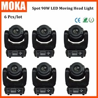 6 Pcs/lot Factory Price 8 Gobo 3 Face Prism 90W Led Moving Head Light With CE RoHS for Ourdoor Bar Stage|moving head light|moving head light price|led moving head light -