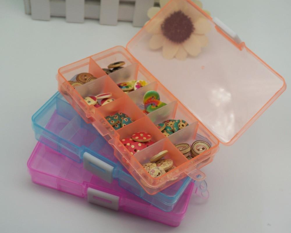 10 couleurs mélangées 100pcs / lot 15mm résine bouton avec boîte - Arts, artisanat et couture