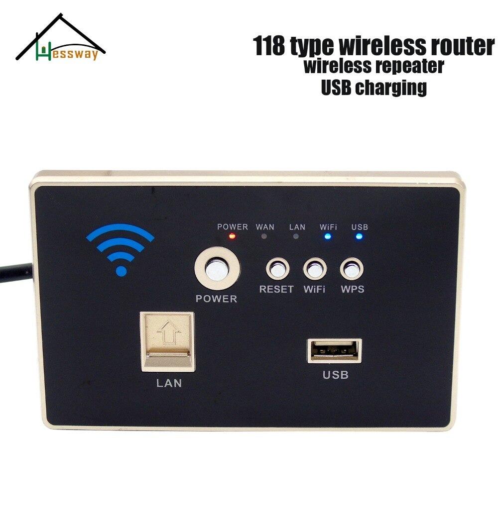 HESSWAY Dual antenna Wall Embedded Wireless AP Router Wireless WIFI USB Charging Socket Panel with 118 standard недорго, оригинальная цена