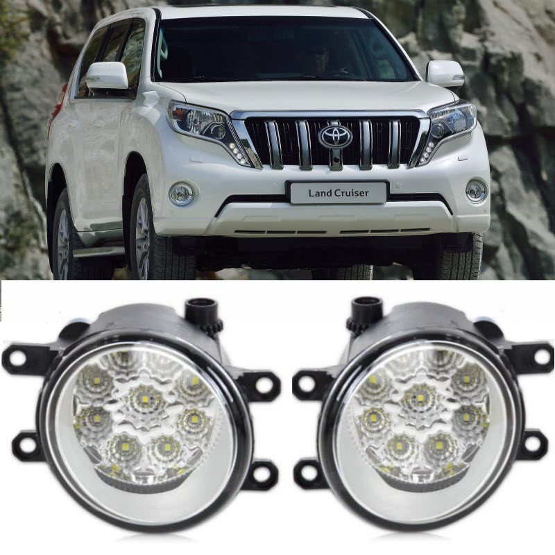 Car-Styling For Toyota Land Cruiser Prado 9-Pieces Leds Chips LED Fog Head Lamp H11 H8 12V 55W Halogen Fog Lights nike nike ni464amhbt03 page 5 page 2 page 4