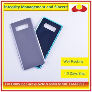 Image 3 - Original For Samsung Galaxy Note 8 N950 N950F SM N950F N9500 Housing Battery Door Rear Back Glass Cover Case Chassis Shell