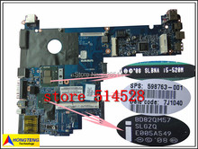 original Laptop System Board 598763-001 for HP/Compaq 2540p motherboard with cpu i5-520M 2.4Ghz 100% Test ok