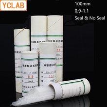 Ykab – Tube en verre, 500 pièces, 100mm, Standard, Point de fusion, échantillon, joint d'étanchéité, équipement La, (tête en Latex rouge en cadeau)