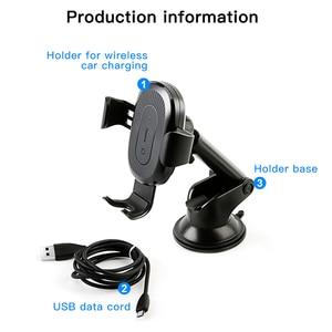 Image 5 - Baseusチーワイヤレス充電器iphone × 8サムスンS9吸引ワイヤレス充電急速充電器カーマウント電話ホルダー
