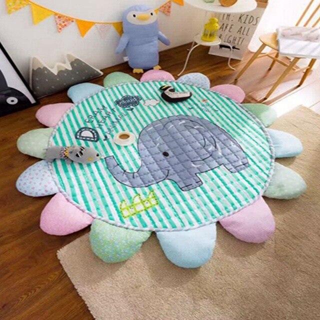 Вс цветы хлопок pad номер декоративные детей ползать ковер коврик игра коврик ребенок одеяло играть аден anais мультфильм муслин пеленать