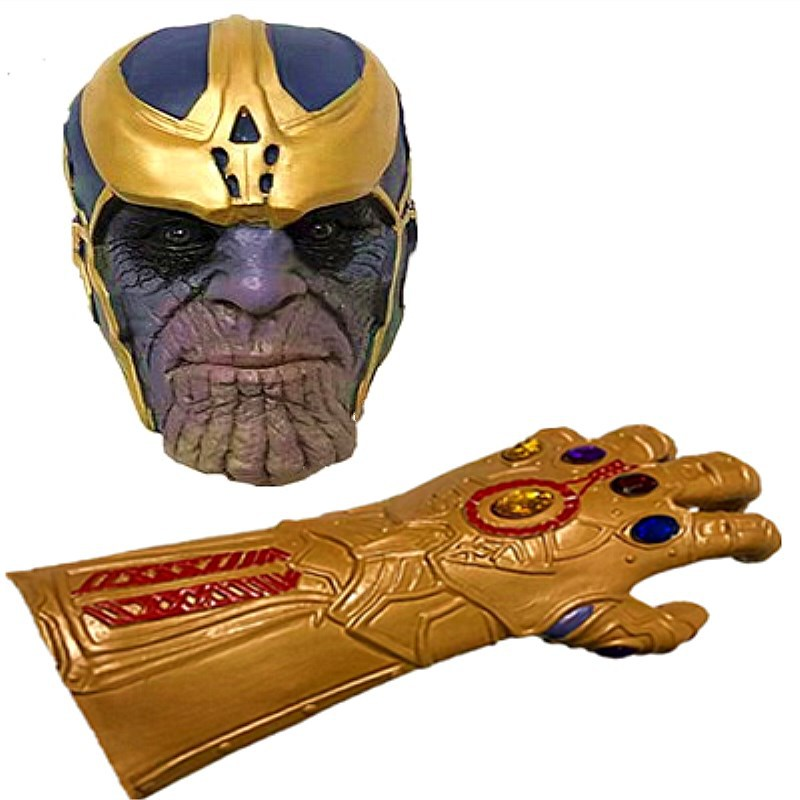 Avengers 3 Infinity War Thanos Infinity Gauntlet Mask Cosplay The Prop Kids Toys