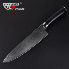 Hot brand 8 inch cook's knife damascus kitchen knives high-grade gift tools VG10 damascus steel knife