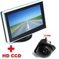 """Assistência De Estacionamento Auto Univesal 18.5mm HD CCD Car Câmara de Visão Traseira + 3.5 """"cor LCD Car Video Monitor Da Câmera de backup"""
