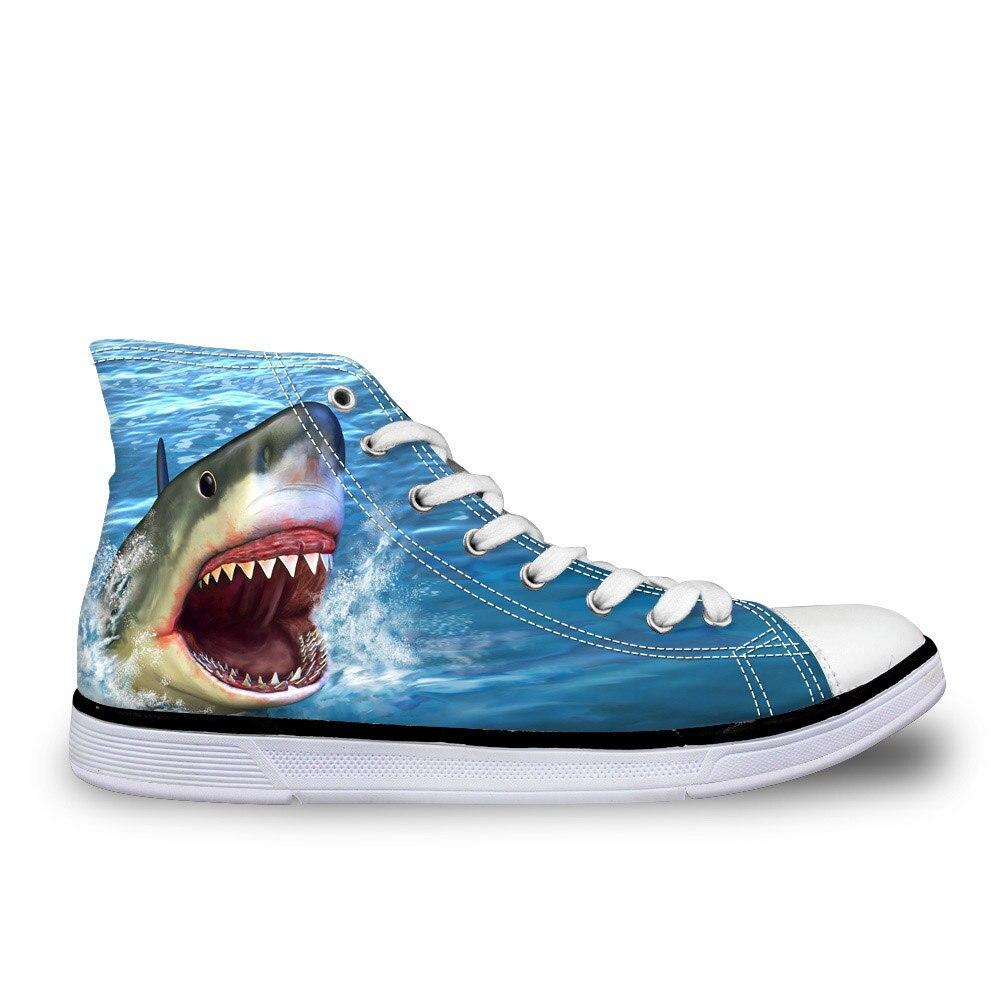 Haute Bleu Noisydesigns top c4504ak High Printemps c4286ak Hommes Pour Loisirs Toile Top Chaussures Custom Classique Vulcaniser Imprimé Requin Mode RIdwqrd