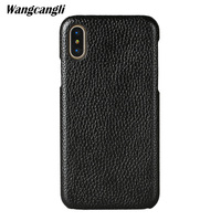 wangcangli For iPhone 8 case leather business phone case For iPhone 8plus case lychee business phone case leather business phone