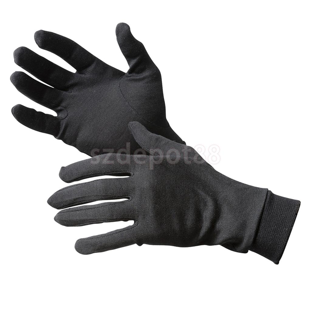 New 2015 1 Pair Black Pure Silk Liner Inner Gloves Ski Under Glove Motorcycle Skiing Cycling