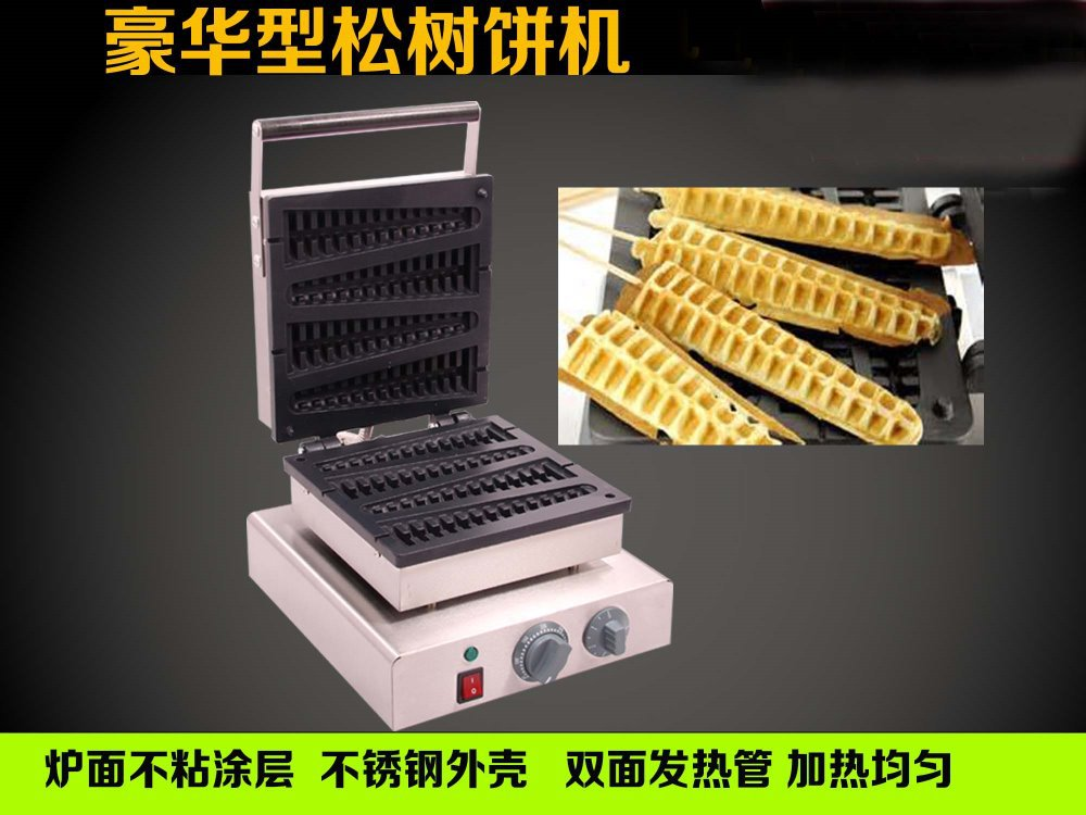 stainless steel corn shape waffle maker machine christmas tree waffle machine lolly waffle maker machine lolly waffle baker commercial snack machine stainless steel tower shaped lolly waffle machine with six pcs lolly waffle moulds