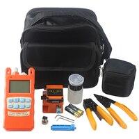 optical fiber tool kits all in one optical power meter visual fault locator 1mw SKL 60S optic fiber cleaver stripper big bag